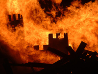 Castle burning