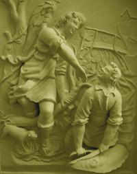 helping hand - stucco figurines