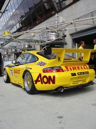 Porsche at pit stop