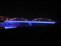 blue bridge in Opole City 2