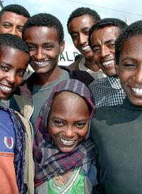smiling ethiopian kids