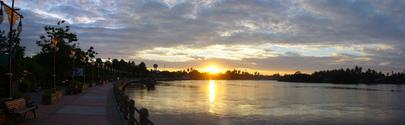 Sun dawn at Meklong