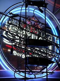 Back of Neon Sign