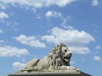Guarding lion