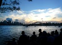 Sydney harbour silhouette