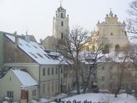 vilnius in snow