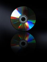cd on black