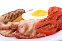 Sausage, bacon, egg, toast food breakfast