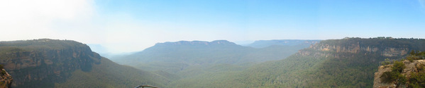 Panoramic of Blue Mountains Au