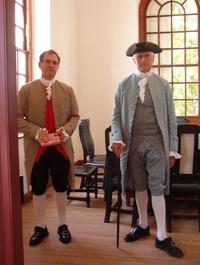 Two Men in Colonial Dress