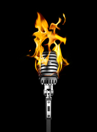 burning mic session