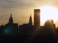 Sun sets over Manhattan