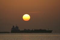 Sunrise with a Ship