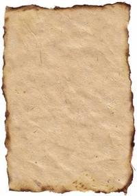 Burned & fibred Paper