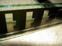Filmstrip macro shot