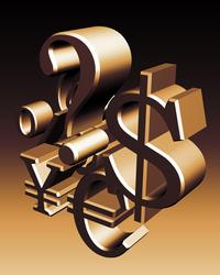 money symbols abstract 2