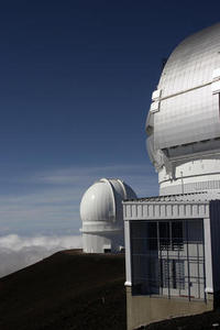 Telescopes on top of Mauna Kea