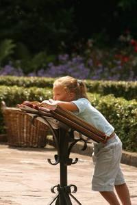 Kid on a table