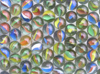 Small glass balls