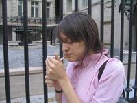 girl lighting a cigarette 3