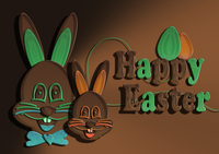 Chocolate Easter bunny father