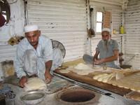 Bread in making