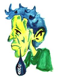 Drawing of the sad man