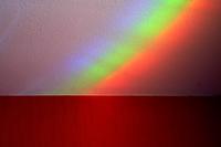 Rainbow on wall