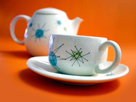 Retro cup and teapot