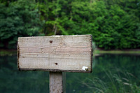 empty lake sign