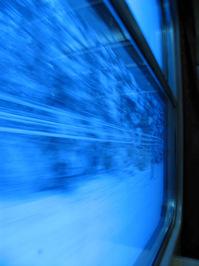 In train, Poland