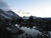 dusk in the coastal mountains