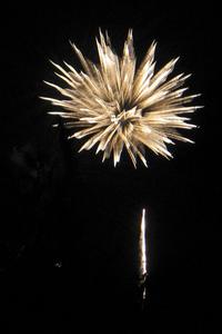 White Fireworks Blast