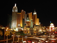 Las Vegas strip night shot