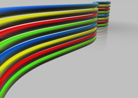 Colored glossy lines 3D 2