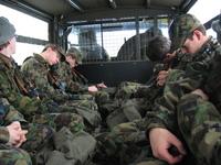 Sleepy soldier heads