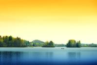 Spring Sunset on lake