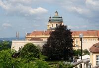 view towards the monastery