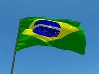 3D - Bandeira Brasil