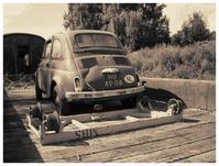 Fiat 500 wreck
