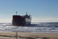 Pasha Bulker ship on beach