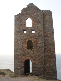 Cornish tin mine ruins