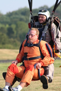 Tandem Skydive Landing 3
