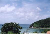 Hillside View of Beach