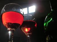 testing wine in the celar