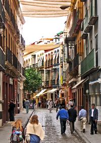 Narrow street in Sevilla