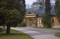 old graveyard building