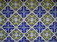 Mosaico amarillo y azul