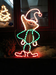 Neon Christmas Elf
