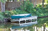 Canoe on the pond